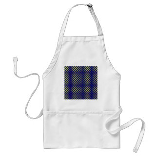 Polka Dots - Electric Yellow on Dark Blue Aprons