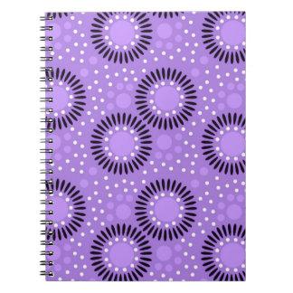 Polka Dots Floral Notebooks :Lavender