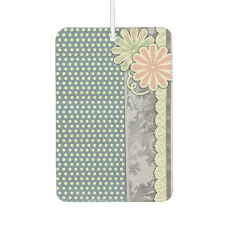 Polka Dots, Flowers and Lace Car Air Freshener
