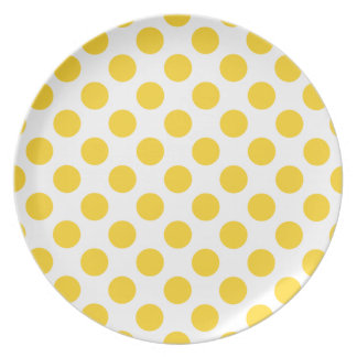 Polka Dots Freesia Dinner Plates