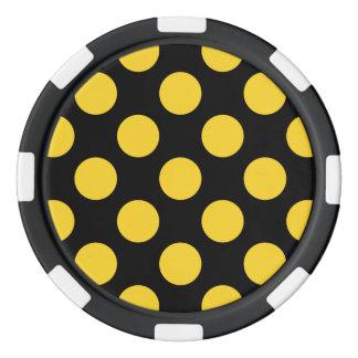 Polka Dots Freesia Set Of Poker Chips