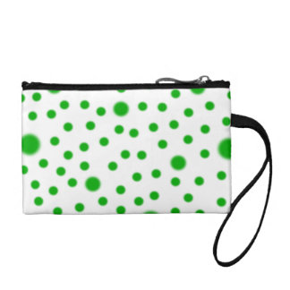 Polka Dots Green Coin Purse