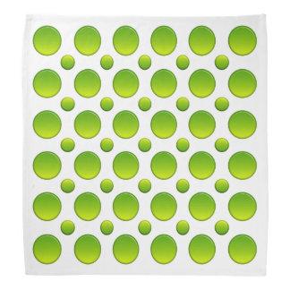 Polka dots green element bandana