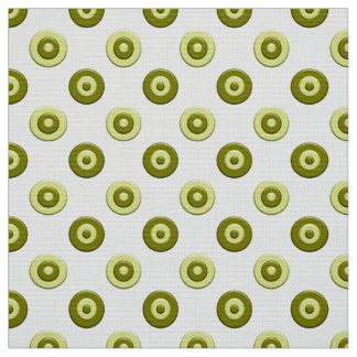 Polka dots green element fabric