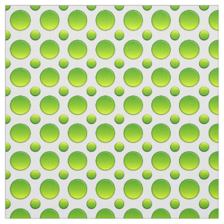 Polka dots green pattern fabric