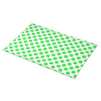 Polka Dots Green Placemats
