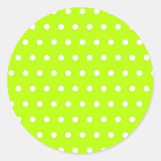 polka dots green pünktchen dab dabbed scores round stickers