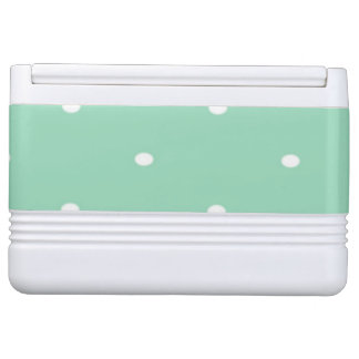 Polka Dots, Green, White Igloo Cool Box