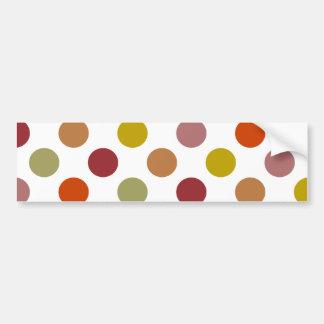 Polka Dots Harvest Mix Bumper Sticker