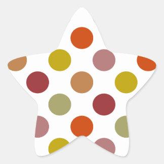 Polka Dots Harvest Mix Star Sticker