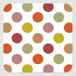Polka Dots Harvest Mix Square Sticker