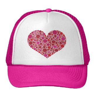Polka Dots Heart Hat