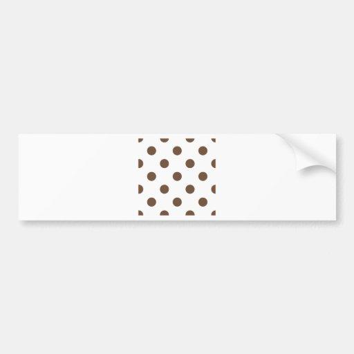 Polka Dots Huge - Coffee on White Bumper Sticker