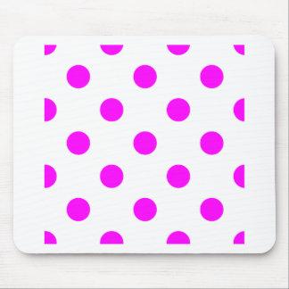 Polka Dots Huge - Fuchsia on White Mousepads