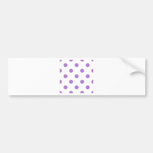 Polka Dots Huge - Lavender on White Bumper Stickers
