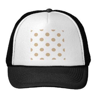 Polka Dots Huge - Tan on White Hats