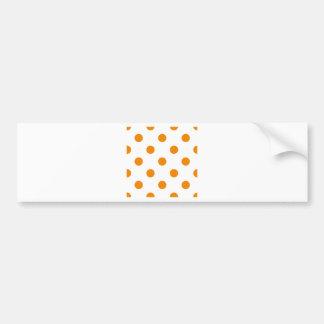 Polka Dots Huge - Tangerine on White Bumper Stickers