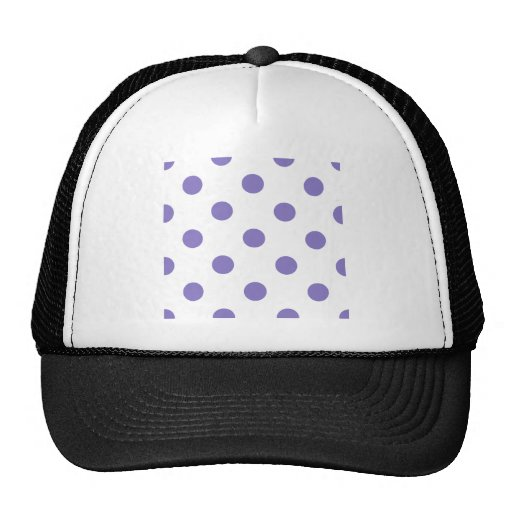 Polka Dots Huge - Ube on White Mesh Hats
