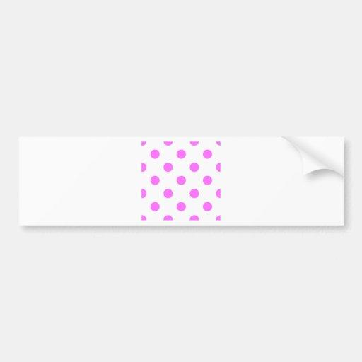 Polka Dots Huge - Ultra Pink on White Bumper Sticker