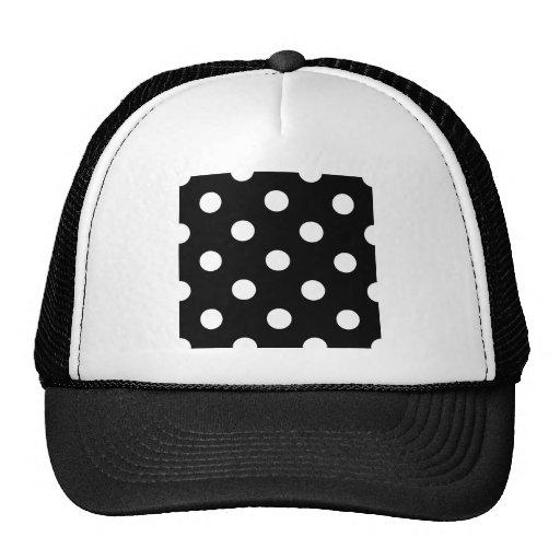 Polka Dots Huge - White on Black Hat