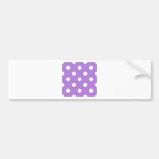 Polka Dots Huge - White on Lavender Bumper Stickers