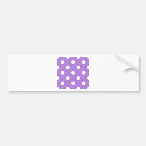 Polka Dots Huge - White on Lavender Bumper Stickers