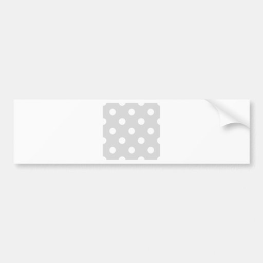 Polka Dots Huge - White on Light Gray Bumper Stickers