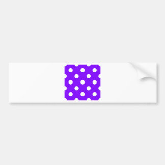 Polka Dots Huge - White on Violet Bumper Stickers