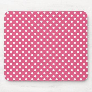 Polka Dots in Dark Pink Mousepad