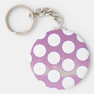 polka dots key ring