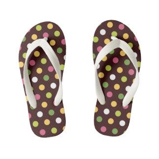 Polka Dots Kid's Flip Flops