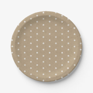 Polka Dots Lace Kraft Custom Party Paper Plate