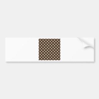 Polka Dots Large - Almond on Cafe Noir Bumper Sticker