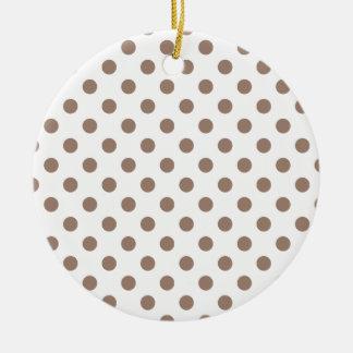 Polka Dots Large - Beaver on White Round Ceramic Decoration