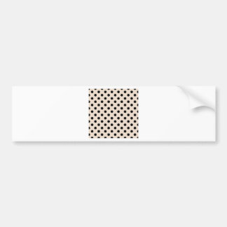 Polka Dots Large - Black on Almond Bumper Sticker