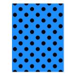 Polka Dots Large - Black on Dodger Blue