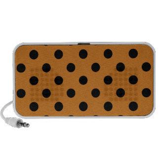 Polka Dots Large - Black on Ochre Portable Speaker
