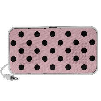 Polka Dots Large - Black on Pink Portable Speaker