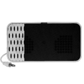 Polka Dots Large - Black on Tan Portable Speakers