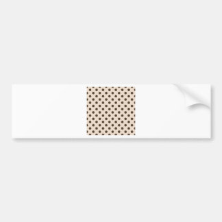 Polka Dots Large - Cafe Noir on Almond Bumper Stickers