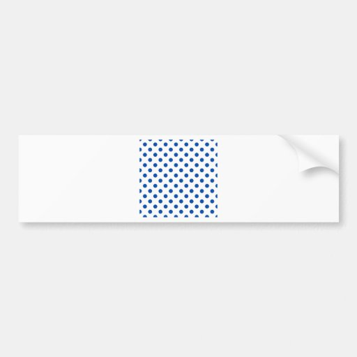 Polka Dots Large - Cobalt on White Bumper Stickers