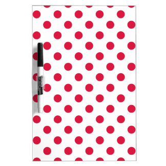 Polka Dots Large - Crimson on White Dry Erase Boards