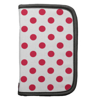 Polka Dots Large - Crimson on White Organizer