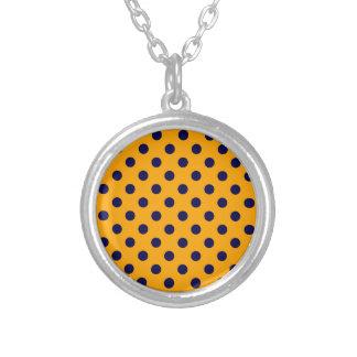 Polka Dots Large - Dark Blue on Orange Jewelry