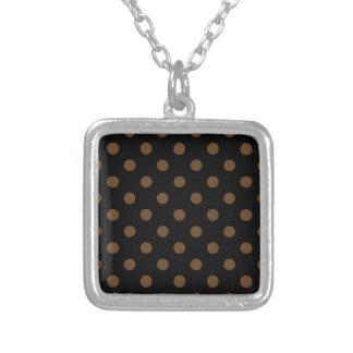 Polka Dots Large - Dark Brown on Black Jewelry