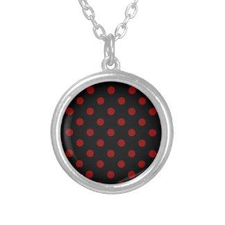 Polka Dots Large - Dark Red on Black Custom Jewelry