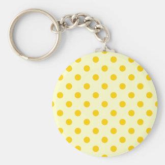 Polka Dots Large - Dark Yellow on Light Yellow Keychains