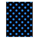 Polka Dots Large - Dodger Blue on Black