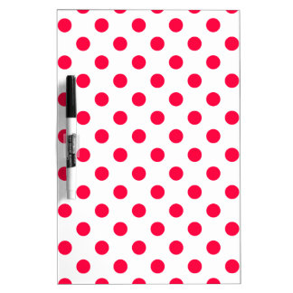 Polka Dots Large - Electric Crimson on White Dry-Erase Boards