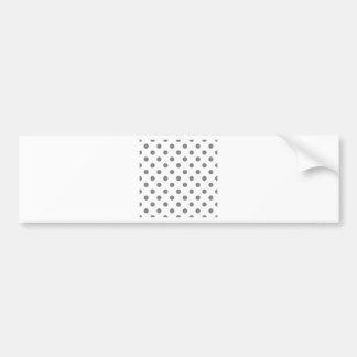 Polka Dots Large - Gray on White Bumper Sticker